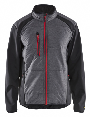 Blaklader 4929 Hybrid Jacket (Black/Red)